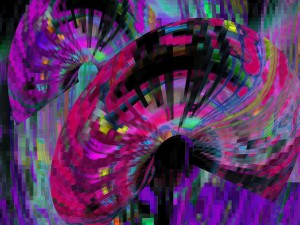 Abanicos de colores en 3D