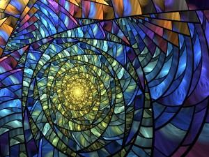 Espiral de diversos colores