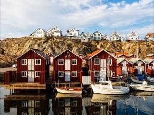 Pueblo de pescadores Smögen (Bohuslän, Suecia)
