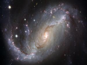 Vista de una galaxia espiral