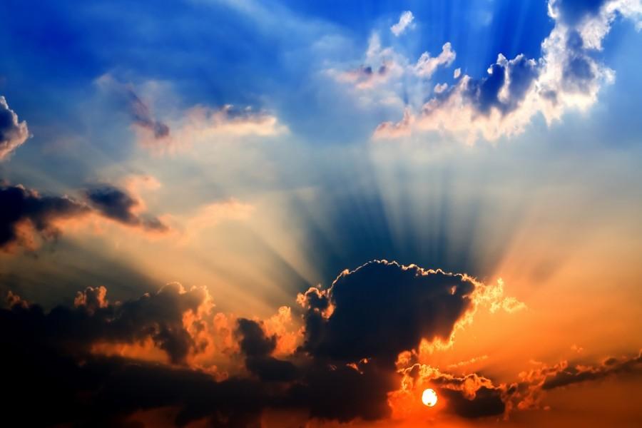 Sol dando color al cielo