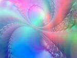 Bonitos colores sobre unas figuras abstractas