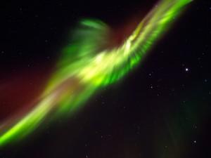 Halo de luz y color en el espacio