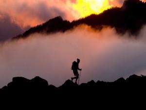 Caminando por la montaña