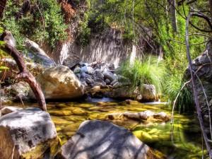 Agua entre las piedras