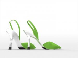 Un par de zapatos verdes