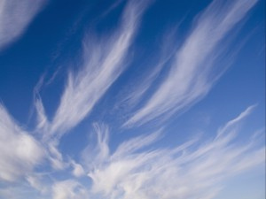 Bonito cielo nuboso