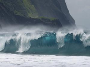 Una ola en el mar