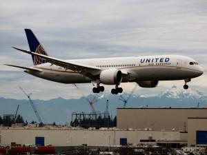 Boeing 787 de la aerolínea estadounidense United Airlines