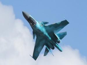 El avión de caza Sukhoi Su-27