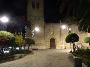 Vista nocturna de la Iglesia de Santiago (Ciudad Real)