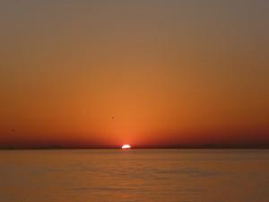 Calma a la salida del sol