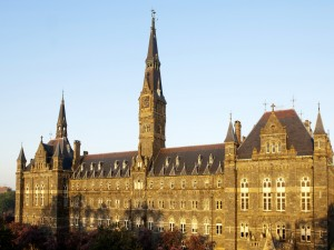 Vista de la Universidad de Georgetown (Washington D. C)