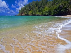 Suave oleaje en la playa