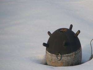 Mina marina en el hielo