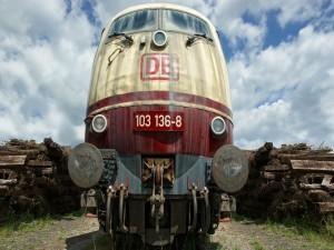Locomotora fuera de servicio