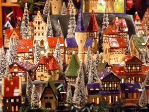 Pueblo navideño de adorno