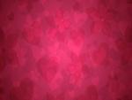 Textura rosada con forma de corazones y flores