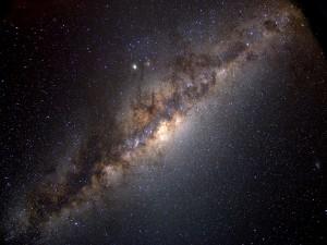 Zona de la galaxia Vía Láctea