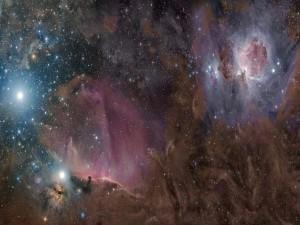 Orión entre gas, polvo y estrellas