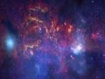 Estrellas azules brillando en el espacio