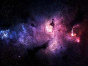 Planeta junto a una nebulosa