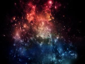 Estrellas en dos franjas de color