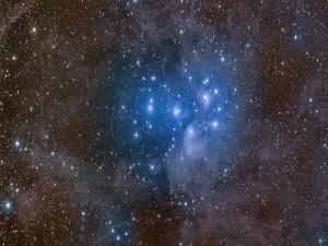 Cúmulo de estrellas azules