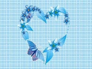 Un bonito corazón azul