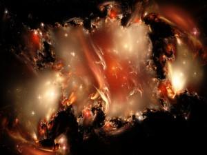 Estrellas iluminando el espacio