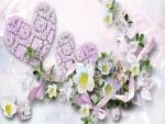Guirnalda de corazones y flores