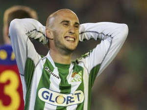 Dani Martín con la camiseta del Real Betis