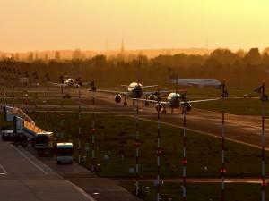 Aviones en la pista
