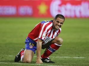Salva Ballesta con la camiseta del Atlético de Madrid