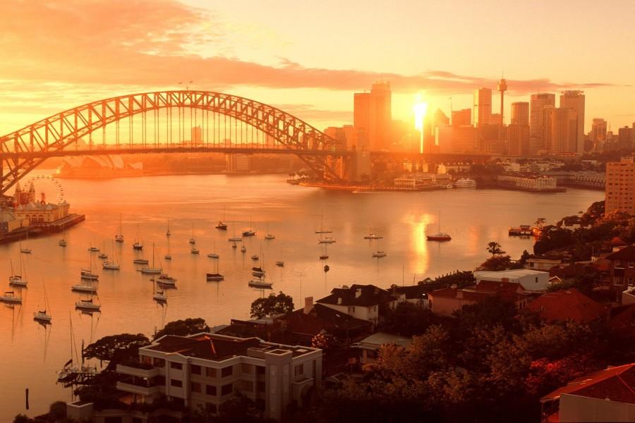 Bonito amanecer en Sídney