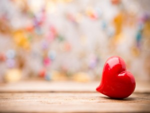 Pequeño corazón rojo