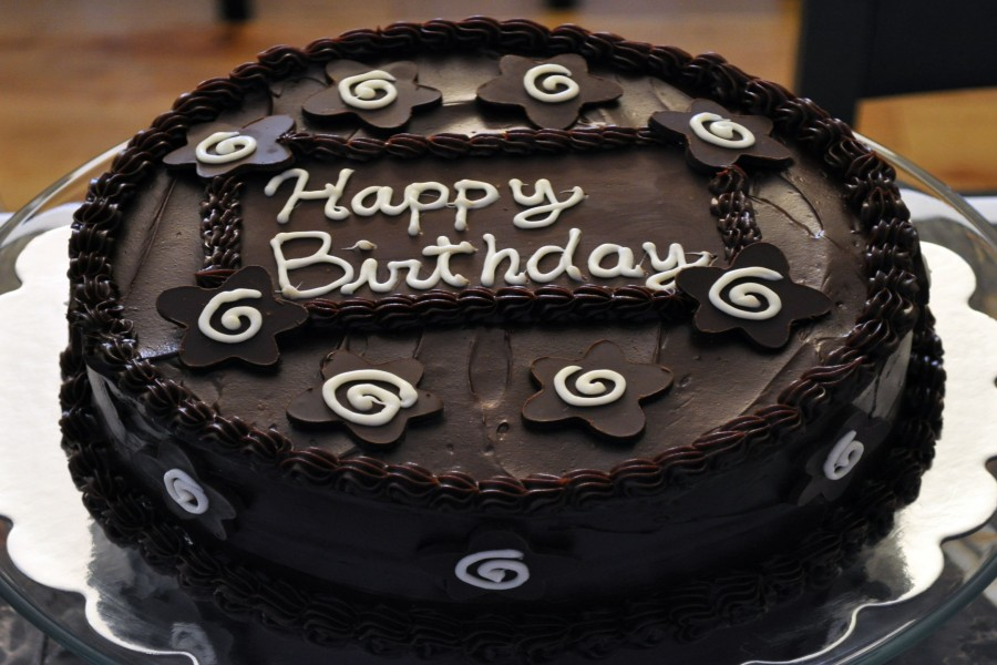 Tarta de chocolate para un cumpleaños