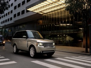 Range Rover de color gris
