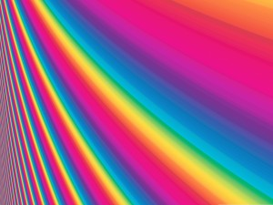 Franjas de bonitos colores