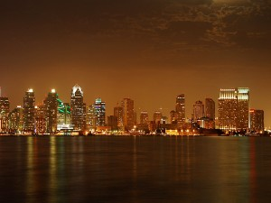 Ciudad vista en la noche