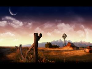 Molino en un rancho