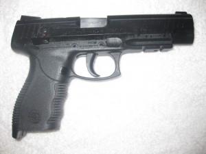 Pistola de color negro