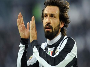 Andrea Pirlo con la camiseta de la Juventus