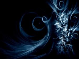 Imagen abstracta en un fondo oscuro
