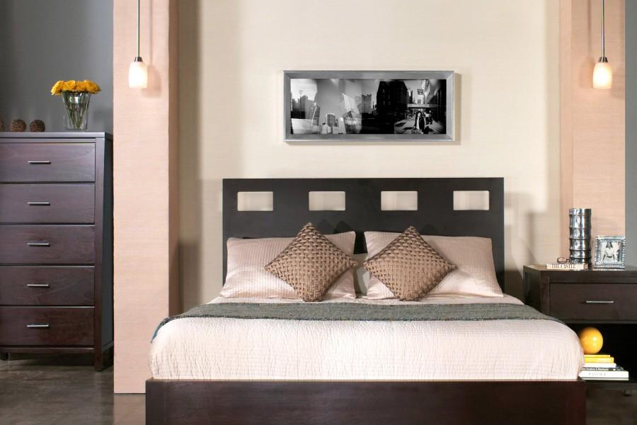 Dormitorio en color marrón