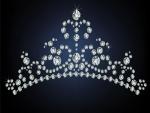 Refulgente tiara de diamantes