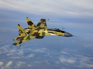 Sukhoi Su-35 en el aire