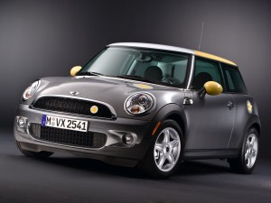 Mini Cooper de color gris