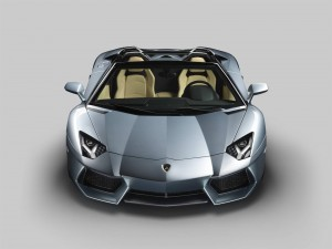 Lamborghini Aventador Roadster de color gris