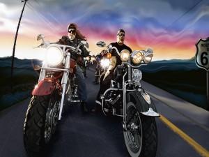 En Harley-Davidson por la ruta 66